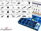 V99-1010 BMW E34 -  BMW fastener assortment kit,  the most used 19 different fastener types - if you run out of one type you can reorder each single type to fill up the box again