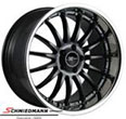"19ED855SERIELSBMW E61LCI -  19"" Black Emotion Desire rim 8,5X19 with polished lip"