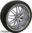 "GP1883SERIEBMW E90 -  18"" Rennsport wheels with polished stainless steel lip with 225/40ZR18"