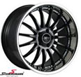 18ED93SERIELSBMW E91LCI -  18&quot; Emotion Desire black rim 9X18 with polished lip (only rear)