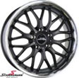 DTM1883SERIELBMW E91LCI -  18&quot; GP DTM black rim 8X18 with polished stainless steel lip  