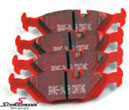 DP3447CBMW E30 -  Racing brake pads rear EBC red stuff (for street and extreme driving)