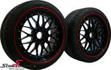 "EVSB195SERIEKBMW E63 -  19"" EVO Sport B9 black 8,5+9,5X19 rims with 245/35+275/30/19"