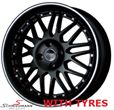"BC173SERIEBMW E30 -  17"" -Black Competition B1- 7X17 with 205/40/17"