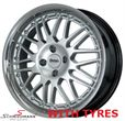 "SC173SERIEBMW E30 -  17"" -Silverline Competition B1- 7X17 with 205/40/17 (polished stainless steel lip)"