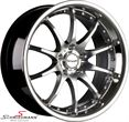 "TO819955SERIELBMW E61LCI -  19"" -Tomason TN8- hyper black diamant polished rim 9,5X19 (with stainless steel lip) (fits only rear)"