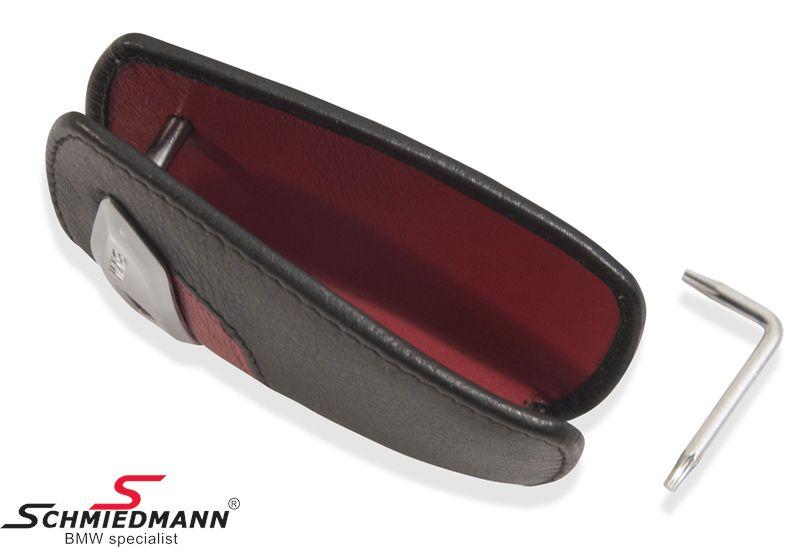 82-29-2-219-909 Schlüsseletui -BMW- schwarz/rot.
