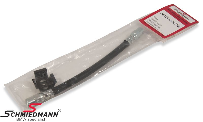 Brake hose rear axle 222MM, -Schmiedmann HG High Grade-