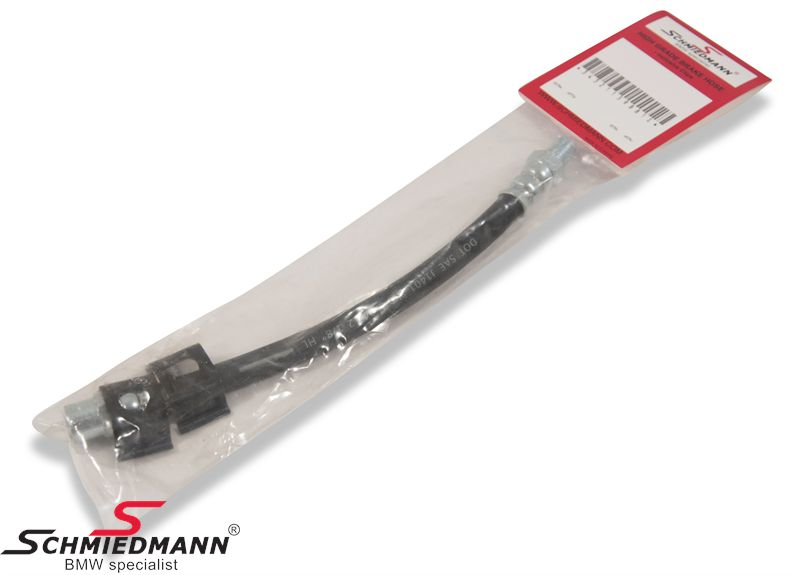 Brake hose -calipers 200MM, -Schmiedmann HG High Grade- inclusive clips