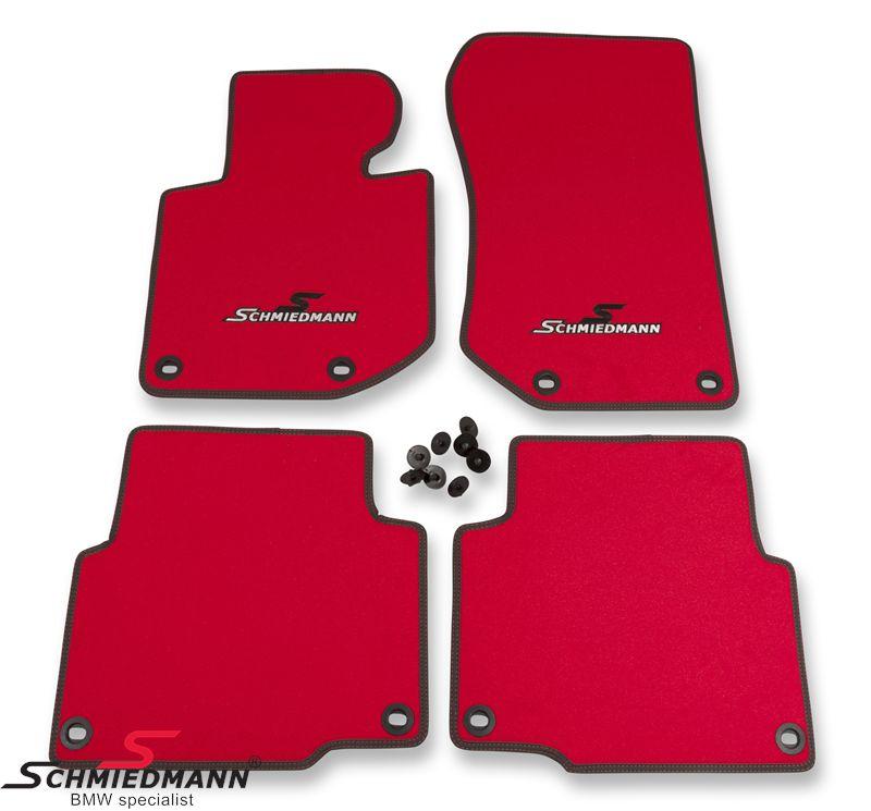Schmiedmann -Sport EVO- kangasmattosarja, eteen/taakse, punainen
