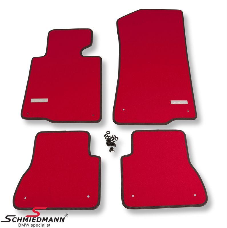 Fussmatten vorne/hinten original Schmiedmann -Exklusive Red- extra dick