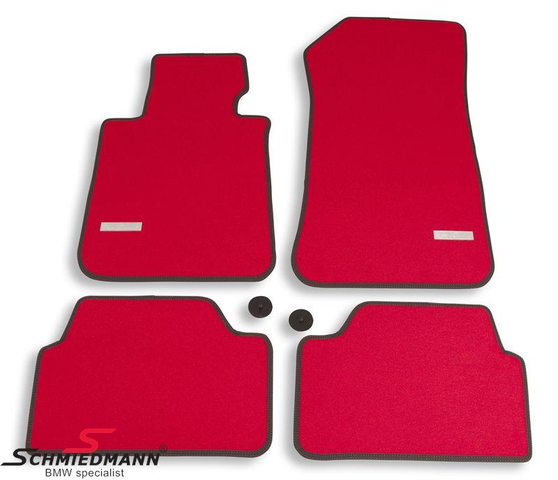Schmiedmann -Exclusive- punaiset lattiamatot eteen/taakse - erittäin paksut