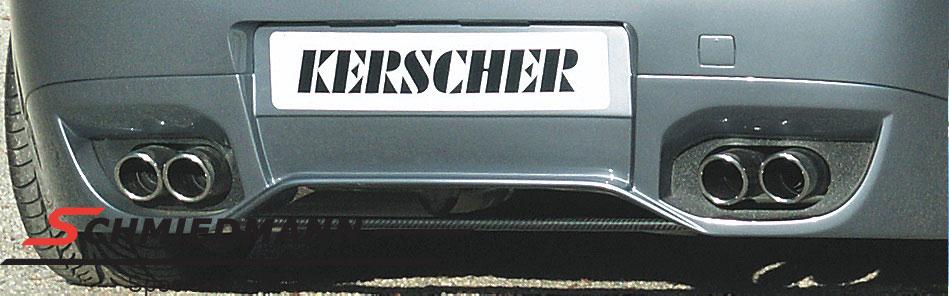 4 rør Kerscher sportsudstødning 4XØ76MM komplet fra kat. og bagud
