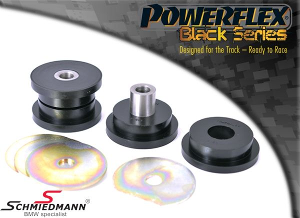 Powerflex racing -Black Series- front lower tie Bar to chassis bush set (for track use)