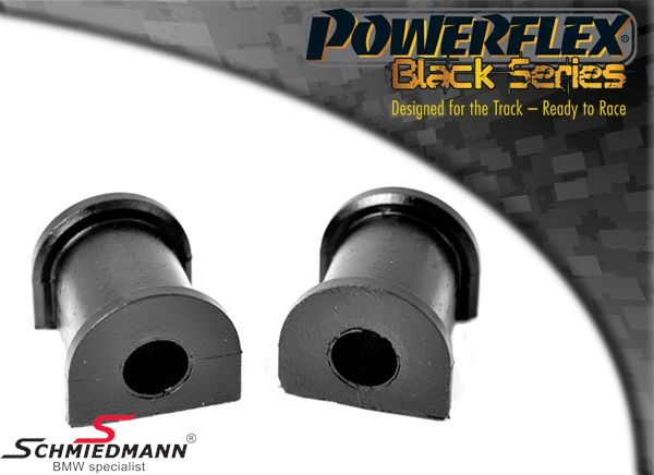 Powerflex racing -Black Series- stabilisator bøsnings-sæt bag 15,5MM (til banebrug)