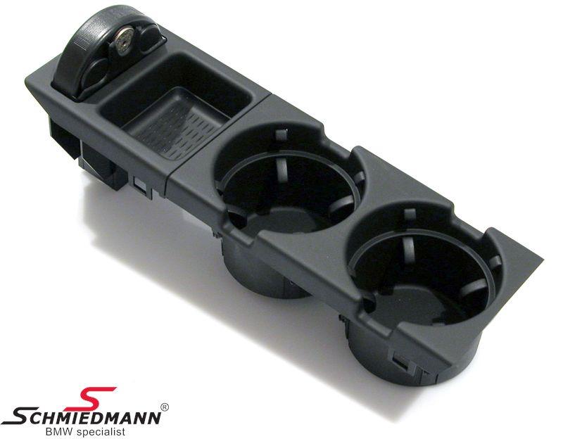 BMW E46 Getränkehalter schwarz Nachrüstsatz komplett inkl. Münzbox (kein Originalteil)