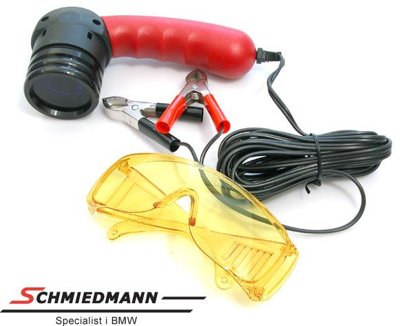 Klima lekkasje spore-lampe UV 12V inklusiv beskyttelses-briller