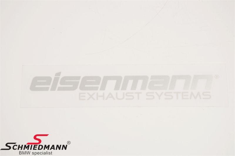 "Eisenmann logo ""Eisenmann exhaust systems"" 20,5X7,5CM sølv/grå"