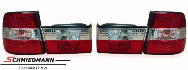 Baklykter facelift rød/hvite LED