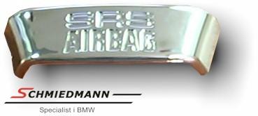 """Lenkrad Emblem Chrom """"SRS AIRBAG"""""""