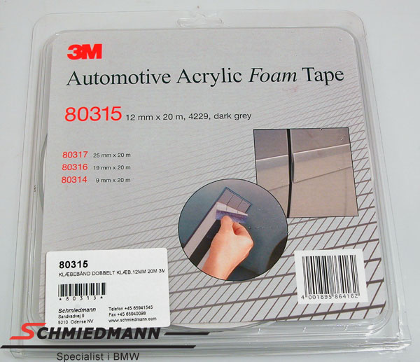 Double adhesive tape 3M 120MM 20M roll special made for license-plates