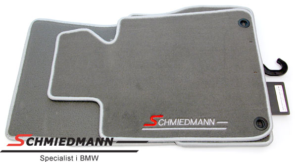 Floormats front/rear original Schmiedmann grey