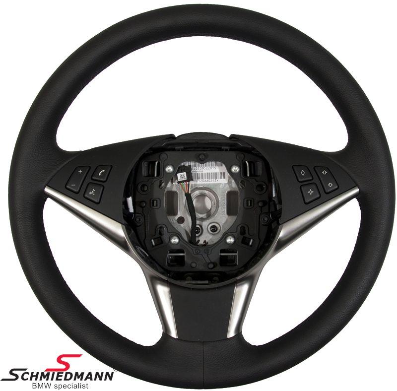 Sportsrat Ruthenium læder airbag Ø379mm, eksklusiv airbag