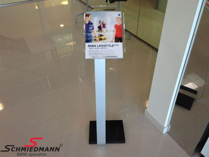 Display catalogue floor stand, nice quality alloy/acrylic with metal base