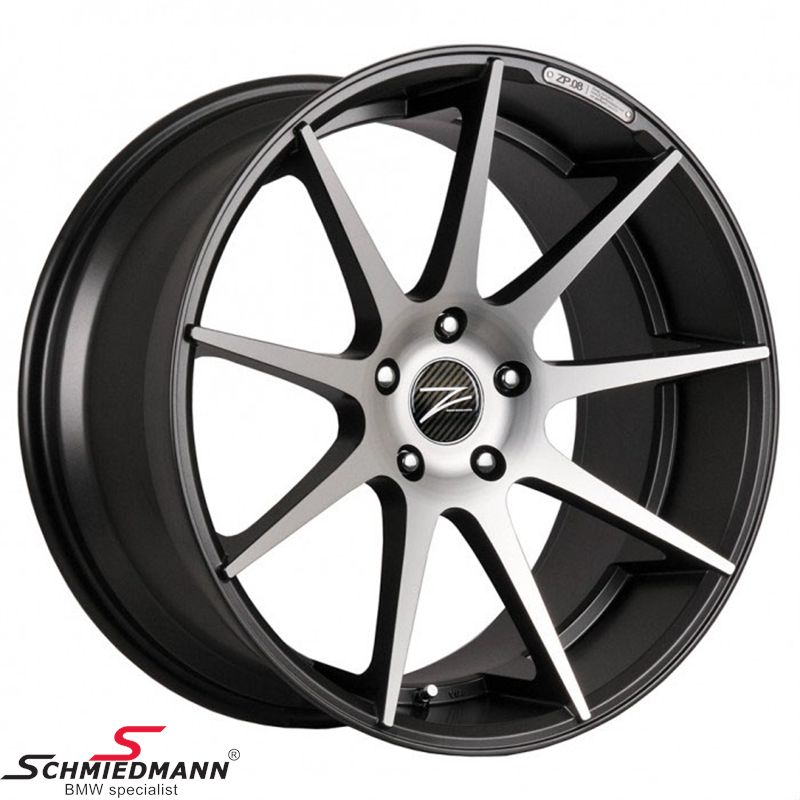 "18"" Z-Performance -Type 8- rim 9x18, Gun Metal FP polished (fits only rear)"