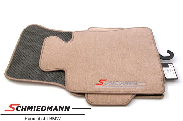 Floormats front/rear original Schmiedmann beige