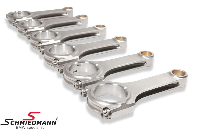 H-profil plejlstænger S50B32 139/53/21mm med ARP bolte pr.sæt