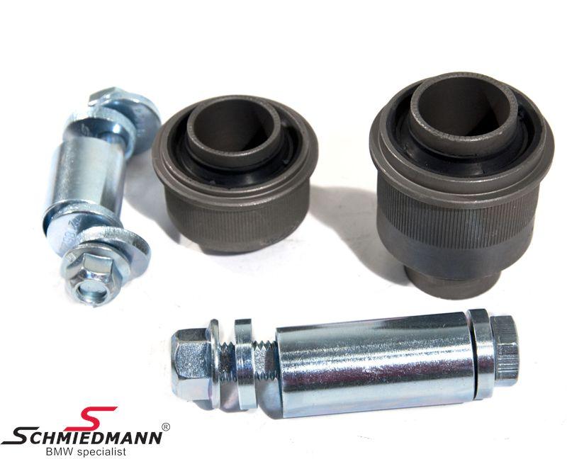 Schmiedmann -S-Tech.- justerbara bakre bärarmsbussnings set (+/- 1.25 grader av camber/toe)