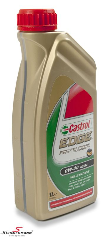 Motoroil Castrol Edge FST 0W40 fully synthetic 1liter can