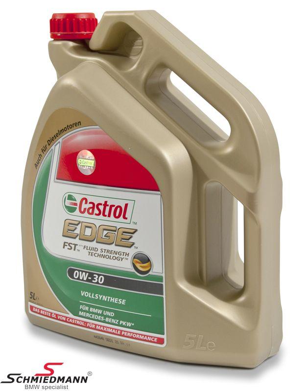 Motorolie Castrol 0W30 Edge FST fuldsyntetisk 5 liter dunk