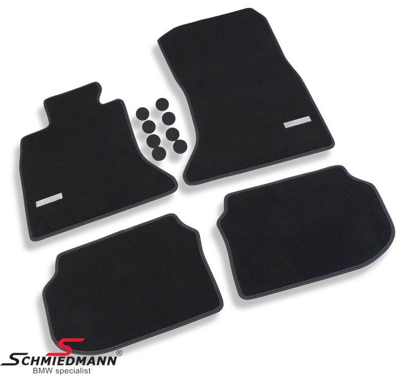 Schmiedmann -Exclusive- paksu kangasmattosarja, eteen ja taakse, musta