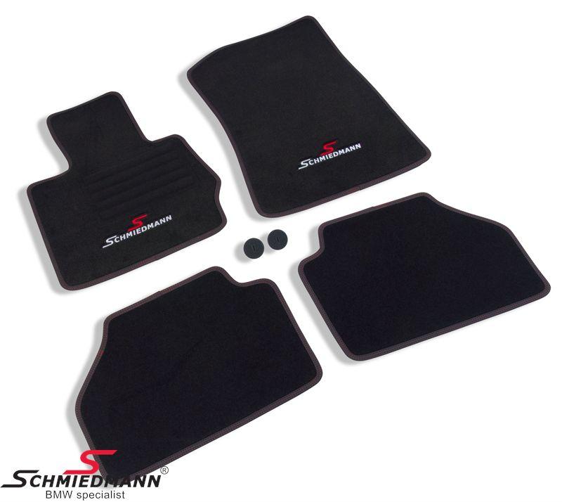 Schmiedmann -Sport EVO- mustat lattiamatot eteen/taakse mustat