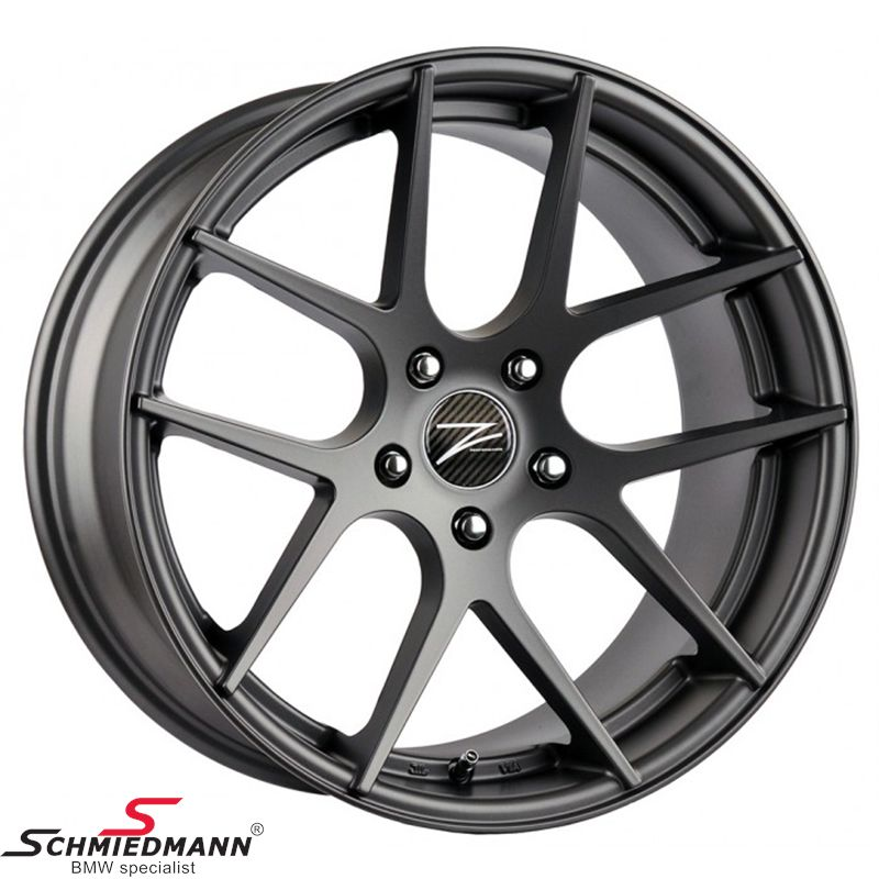 "18"" Z-Performance -Type 7- rim 9x18, Matte Gun Metal (fits only rear)"