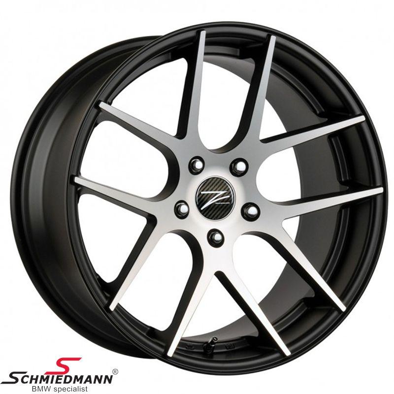 """18"""" Z-Performance -Type 7- fælg 9X18, Matte Black FP polished (passer kun bag)"""