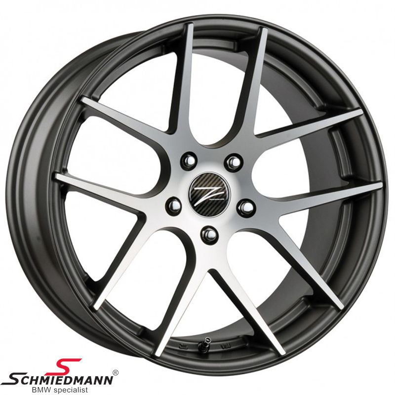"20"" Z-Performance -Type 7- rim 10x20 ET35, Matte Gun Metal FP polished (fits only rear)"