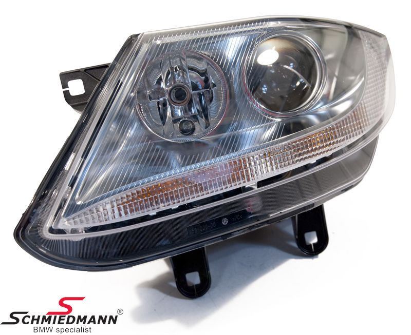63 12 7 165 715 Headlight With White Indicator With Chrome