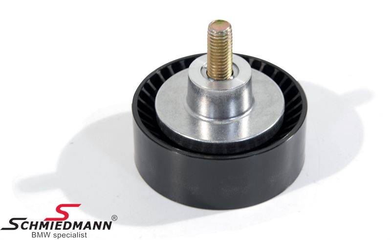 Deflection pulley waterpump/alternator