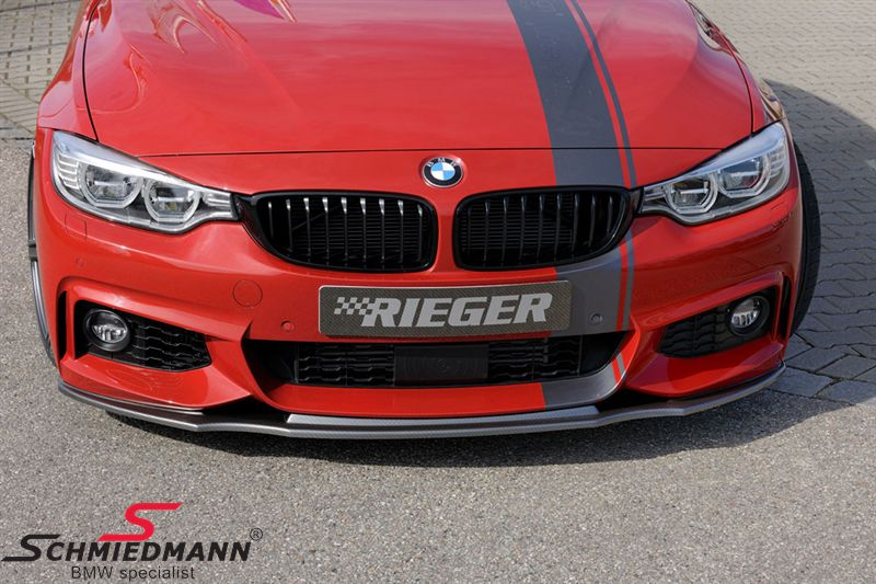 Rieger frontspoiler lip carbon look for M-Technik frontspoiler