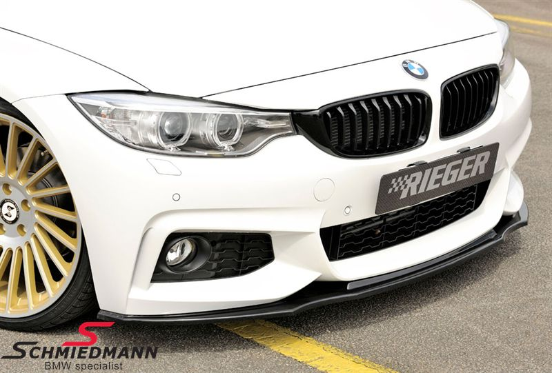 Rieger frontspoiler lip carbon high gloss black painted for M-Technik frontspoiler