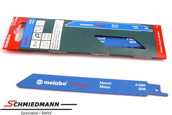 Saebelsägeblätter für Elektrische Säge 15cm Metal Metabo