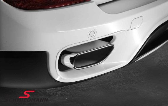 Rear Bumper inserts for original BMW tailpipe set chrom V8 look
