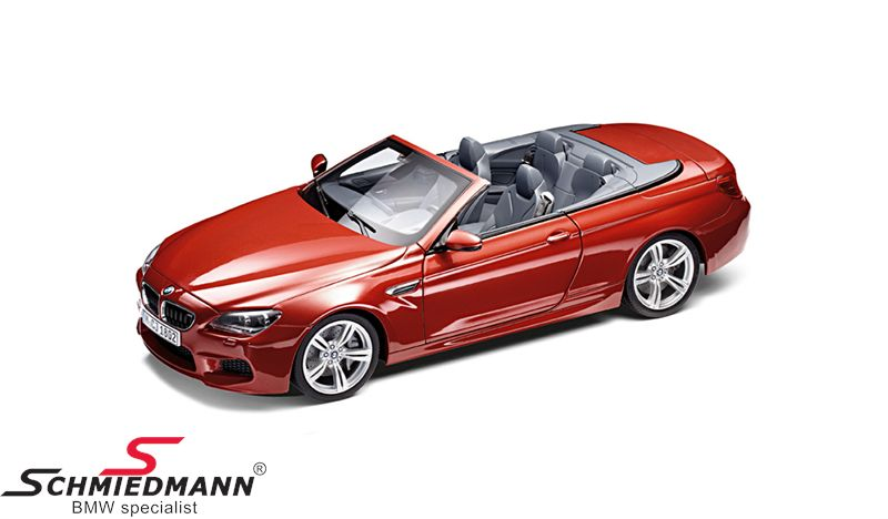 BMW miniature -BMW F12 6 series- Sakhir Orange scale 1:18