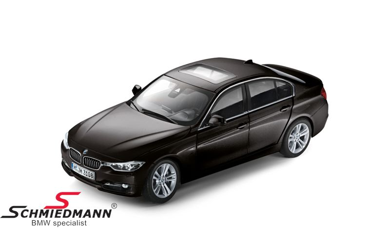 BMW miniature -BMW F30 3 series- Black Sapphire scale 1:18
