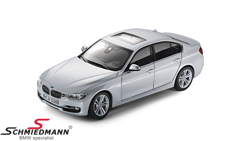 BMW miniature -BMW F30 3 series- Glacier Silver scale 1:18