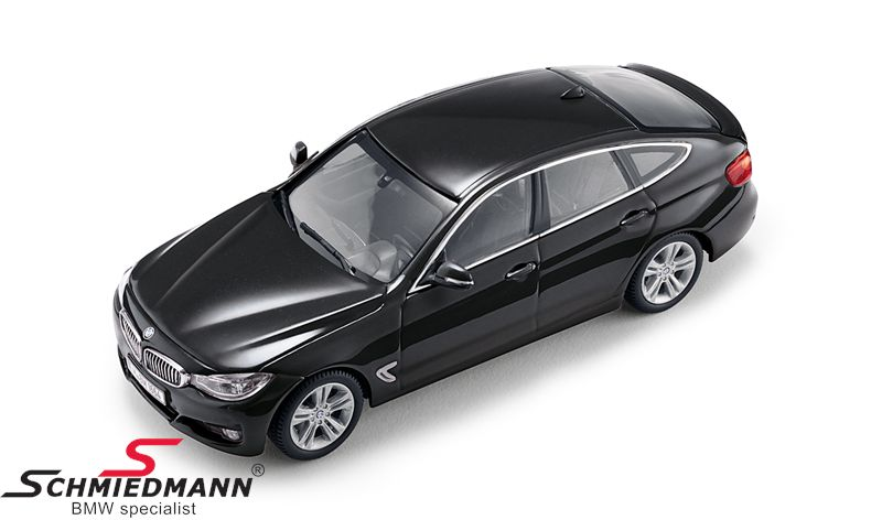 BMW miniature -BMW F34GT Gran Turismo 3 series- Black Sapphire scale 1:43
