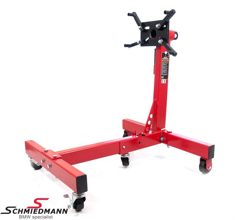 Motorstand max. 750kg Schmiedmann rød farvecode RAL3002 sammenklappelig